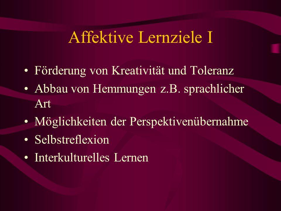 Affektive Lernziele I Förderung von Kreativität und Toleranz