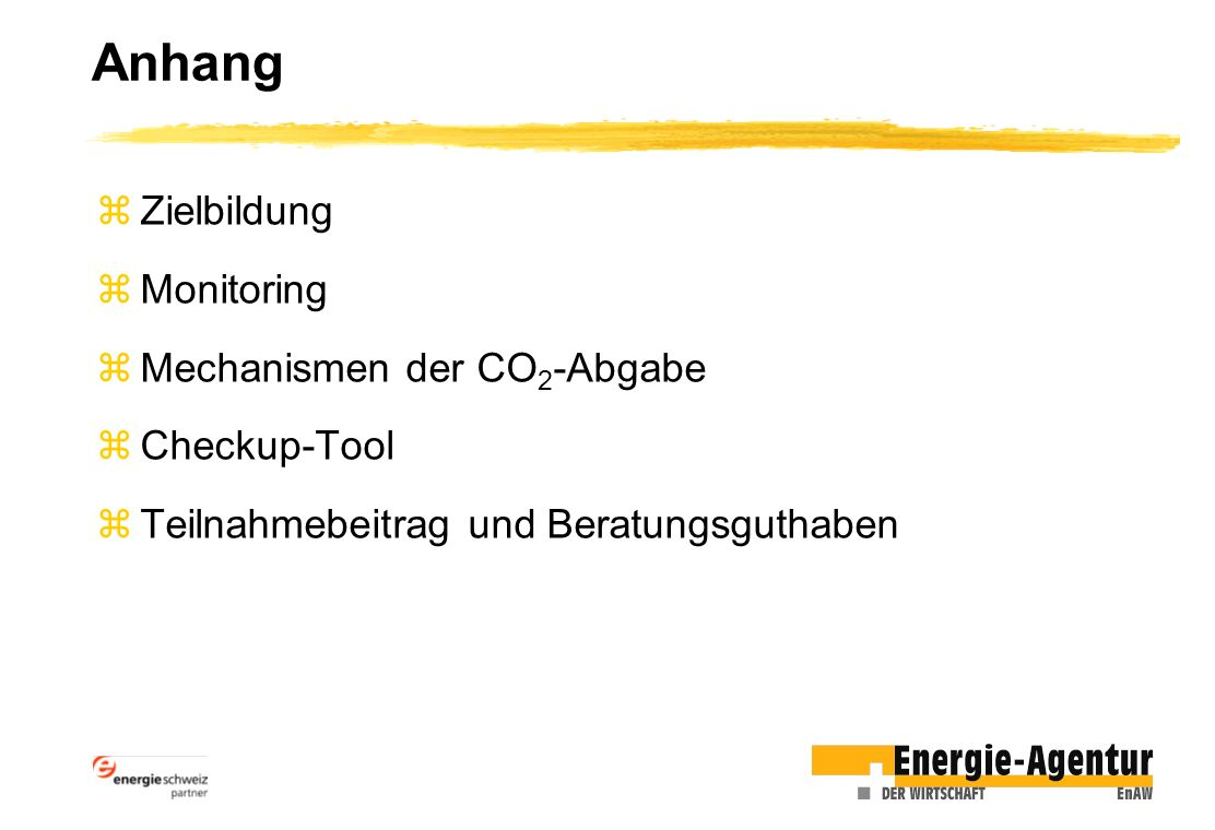 Anhang Zielbildung Monitoring Mechanismen der CO2-Abgabe Checkup-Tool