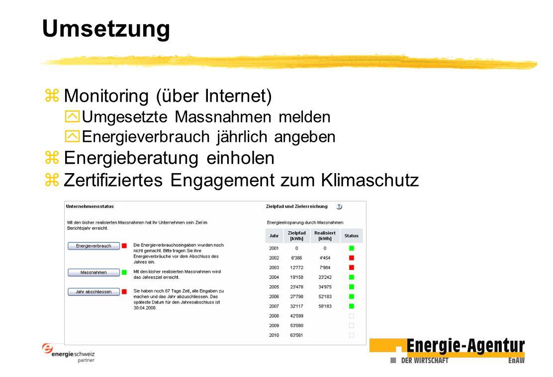 Umsetzung Monitoring (über Internet) Energieberatung einholen