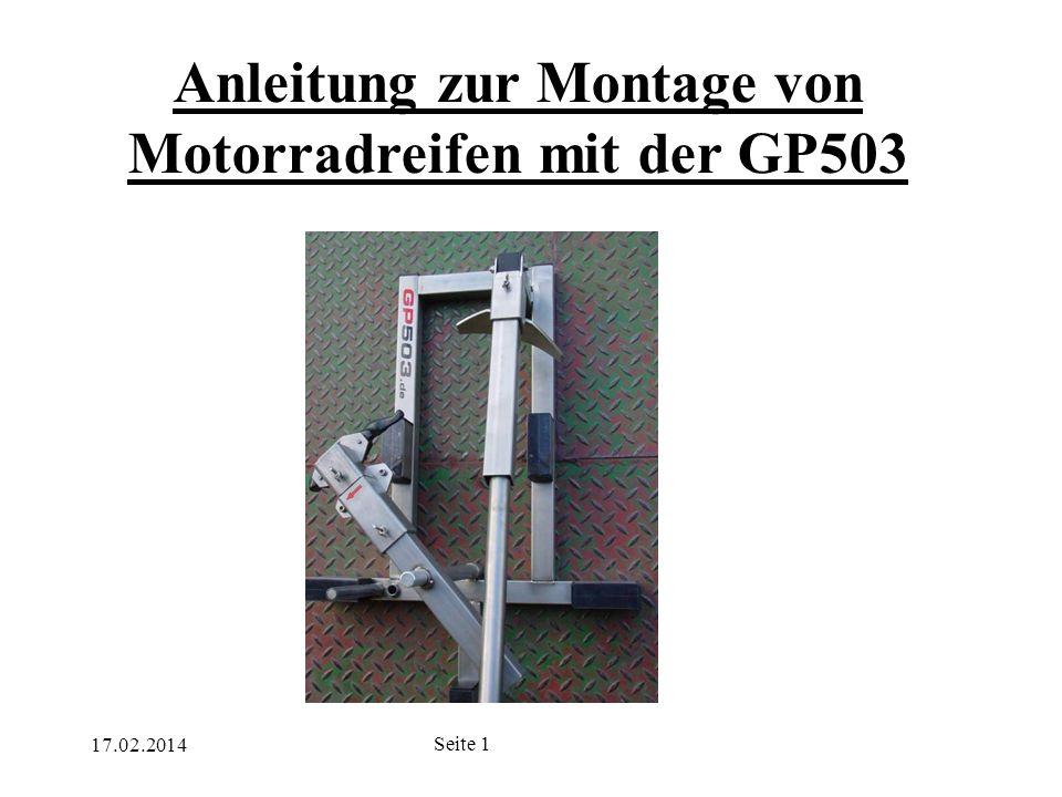 Anleitung zur Montage von Motorradreifen mit der GP503