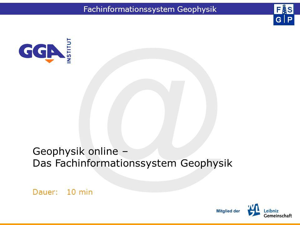 @ Geophysik online – Das Fachinformationssystem Geophysik