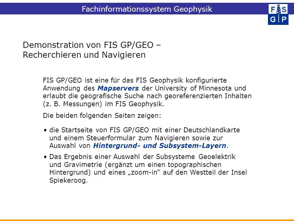 Demonstration von FIS GP/GEO – Recherchieren und Navigieren