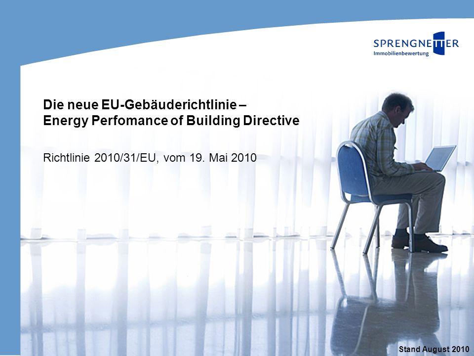 Titel der Präsentation Richtlinie 2010/31/EU, vom 19. Mai 2010