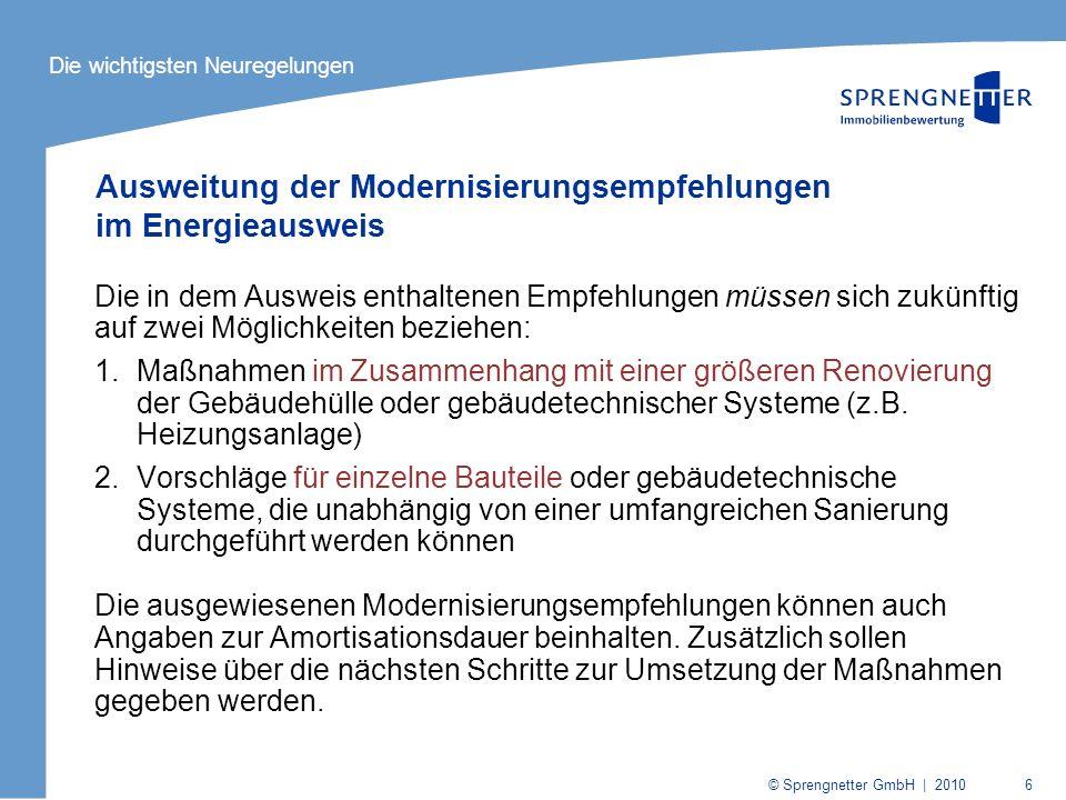 Ausweitung der Modernisierungsempfehlungen im Energieausweis