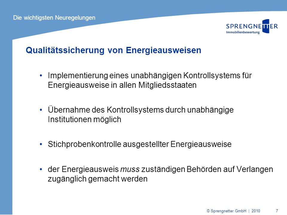 Qualitätssicherung von Energieausweisen
