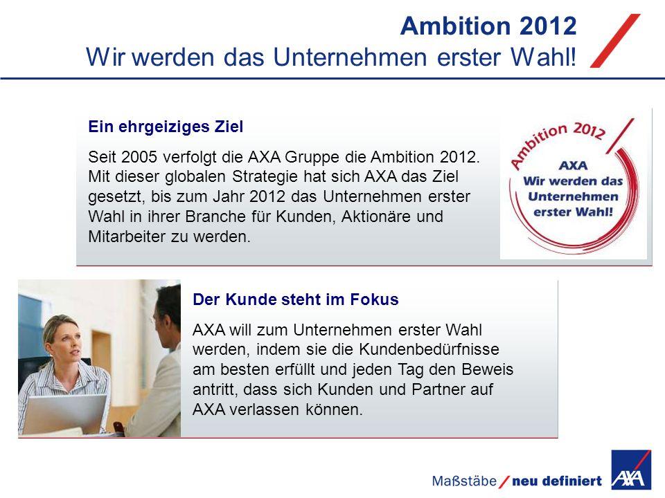 Ambition 2012 Wir werden das Unternehmen erster Wahl!