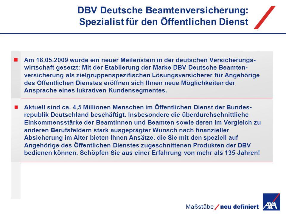 DBV Deutsche Beamtenversicherung: Spezialist für den Öffentlichen Dienst