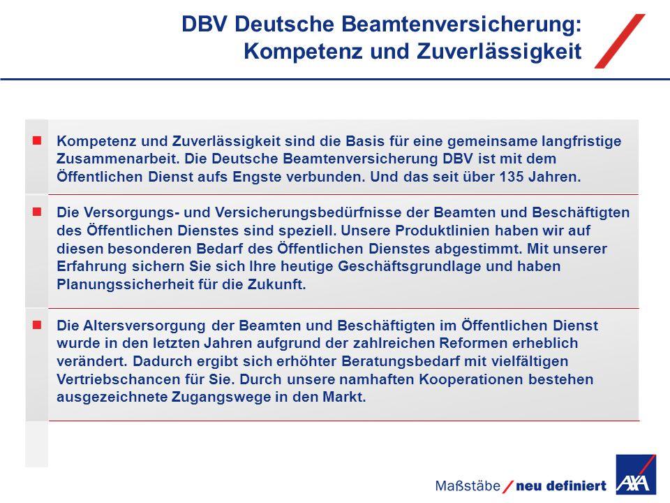 DBV Deutsche Beamtenversicherung: Kompetenz und Zuverlässigkeit