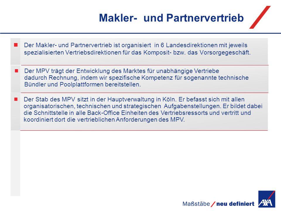 Makler- und Partnervertrieb