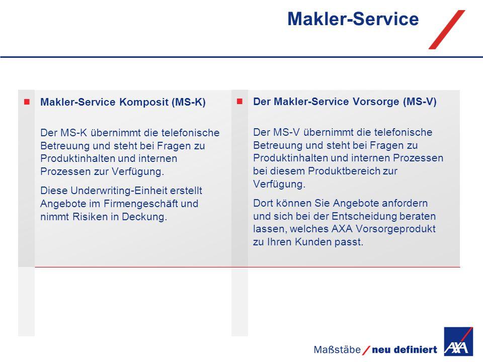 Makler-Service Makler-Service Komposit (MS-K)