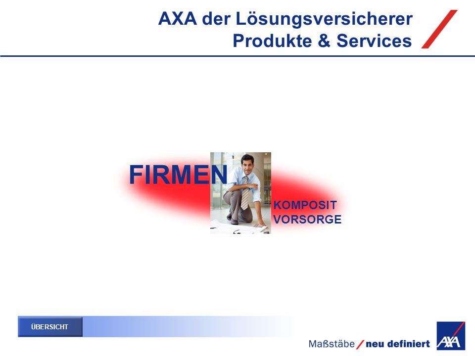 FIRMEN AXA der Lösungsversicherer Produkte & Services KOMPOSIT