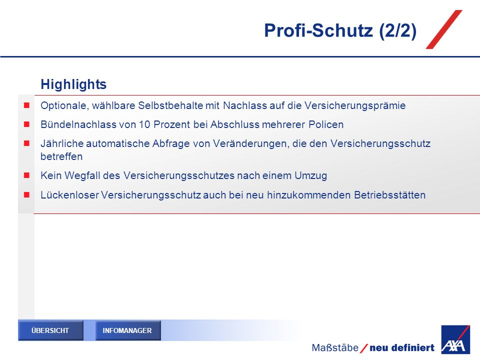 Profi-Schutz (2/2) Highlights