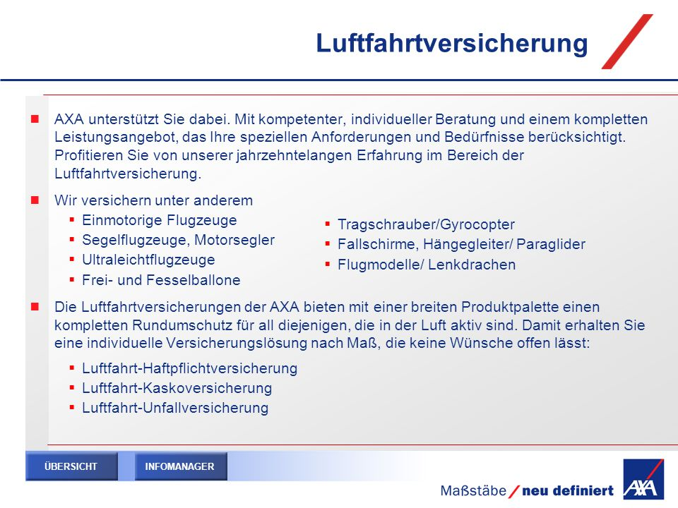 Luftfahrtversicherung