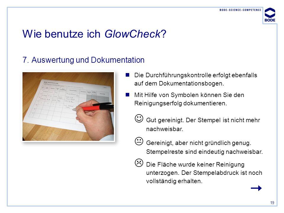 Wie benutze ich GlowCheck