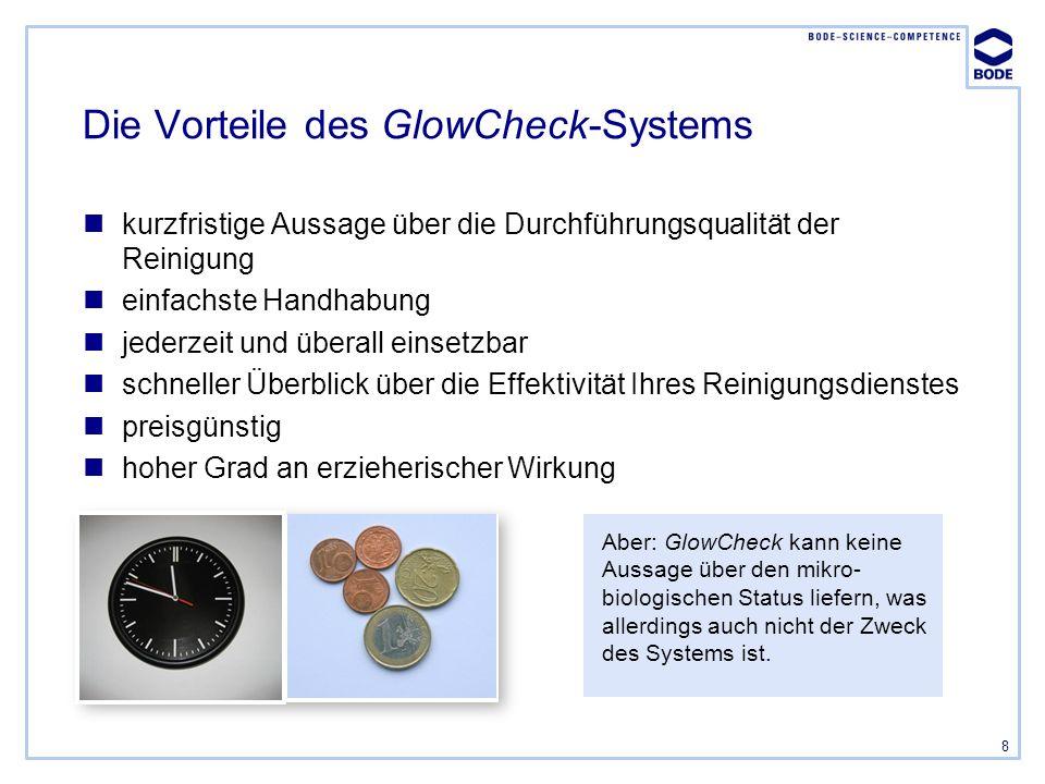 Die Vorteile des GlowCheck-Systems