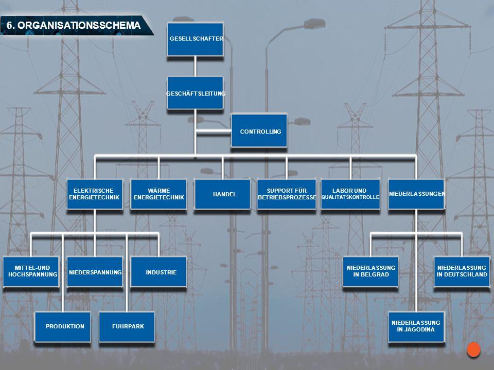 6. ORGANISATIONSSCHEMA GESELLSCHAFTER GESCHÄFTSLEITUNG CONTROLLING