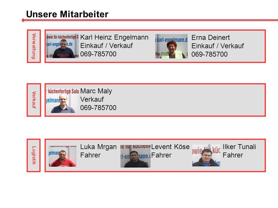 Unsere Mitarbeiter Karl Heinz Engelmann Einkauf / Verkauf 069-785700