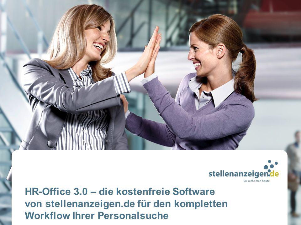 HR-Office 3. 0 – die kostenfreie Software von stellenanzeigen