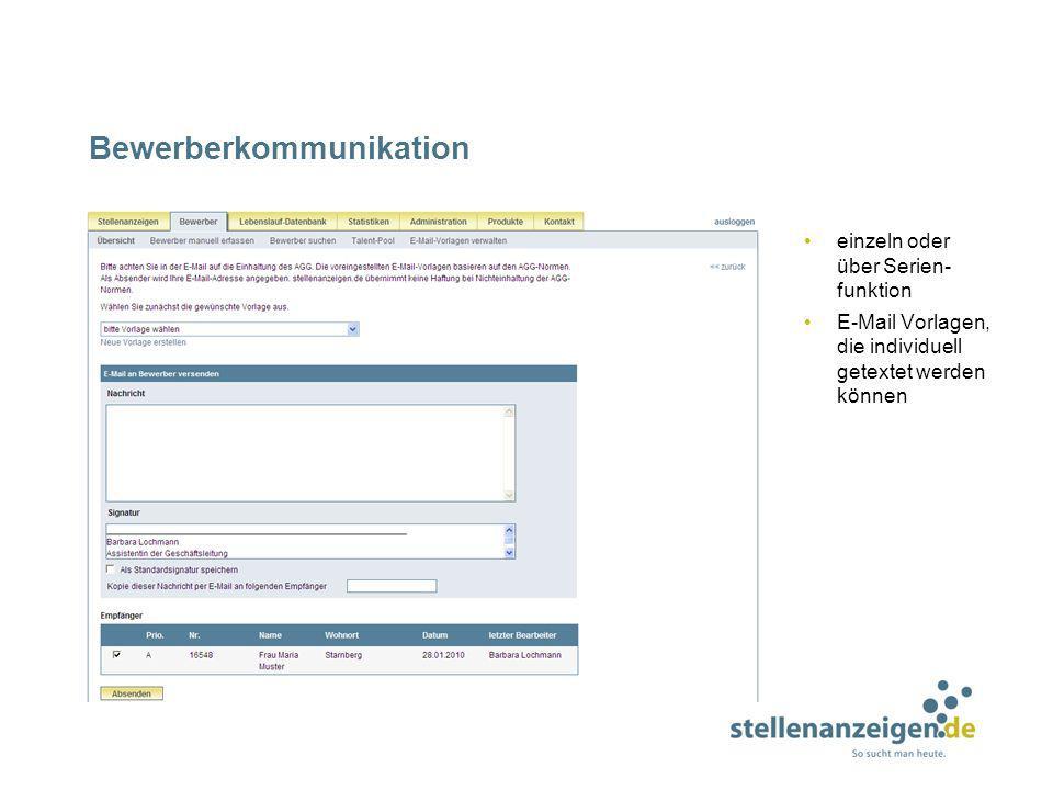 Bewerberkommunikation