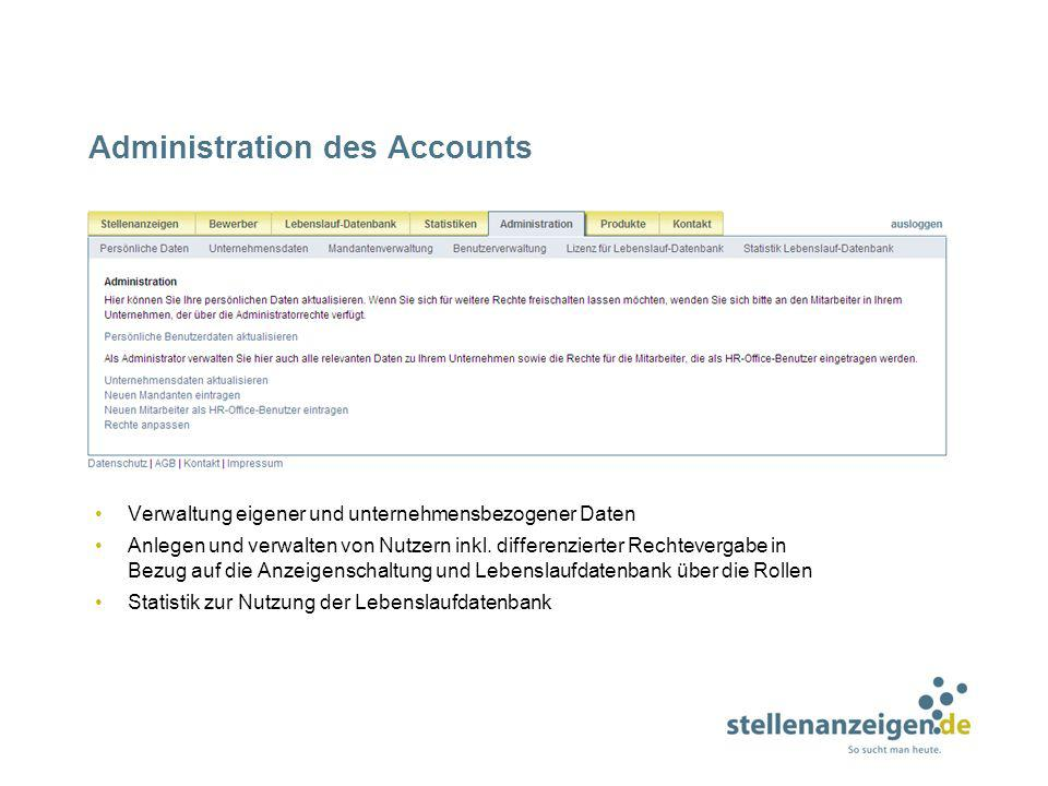 Administration des Accounts