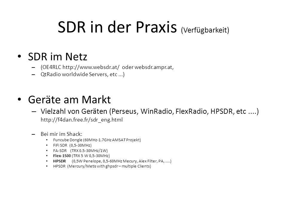 SDR in der Praxis (Verfügbarkeit)