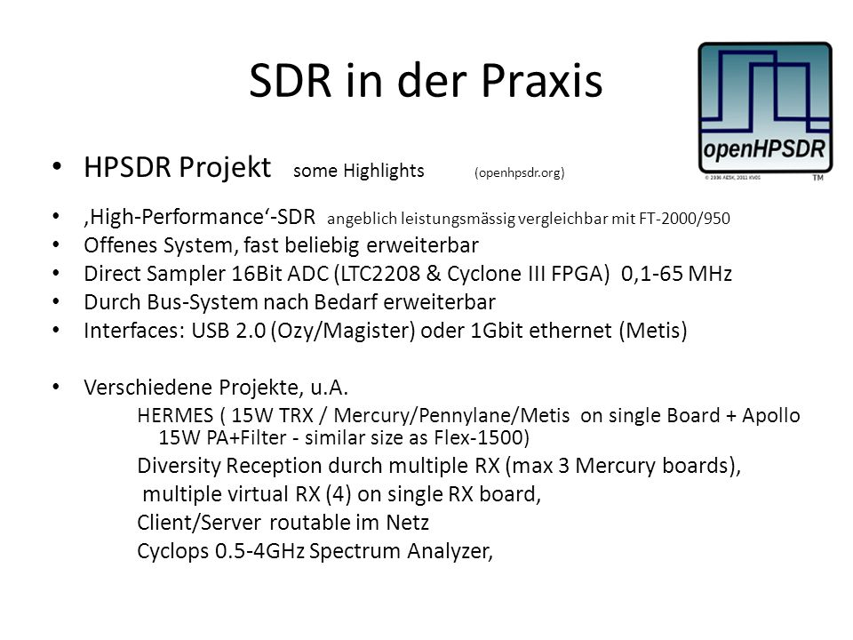SDR in der Praxis HPSDR Projekt some Highlights (openhpsdr.org)