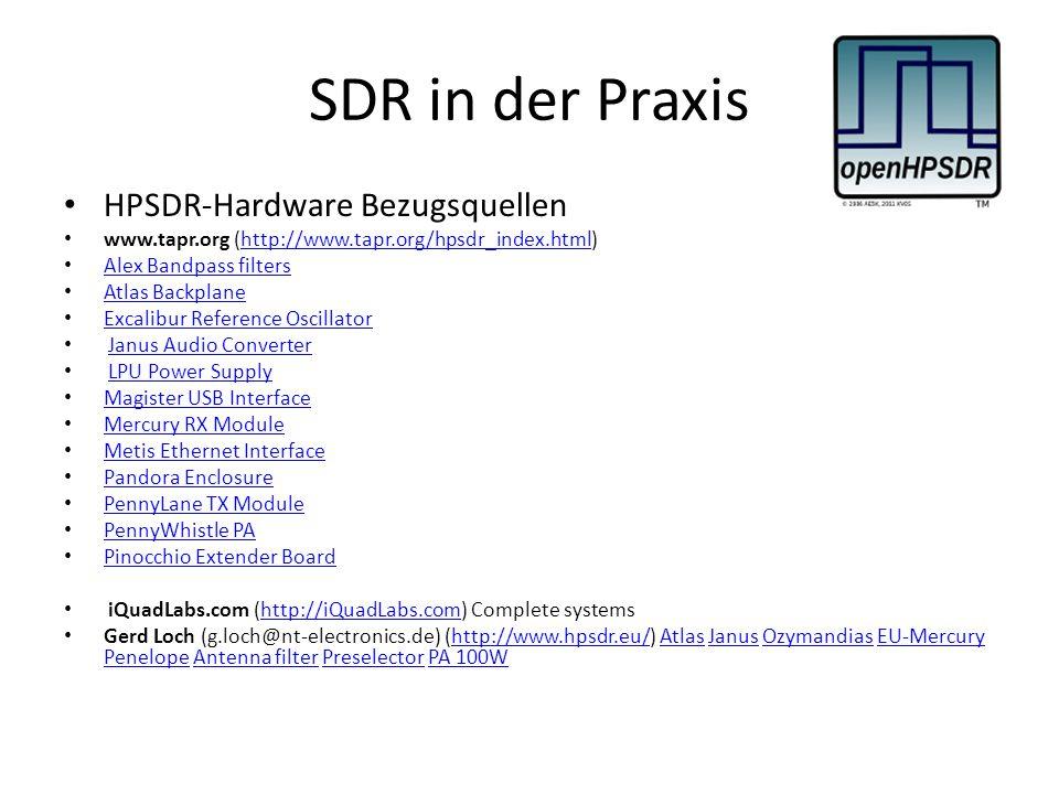 SDR in der Praxis HPSDR-Hardware Bezugsquellen