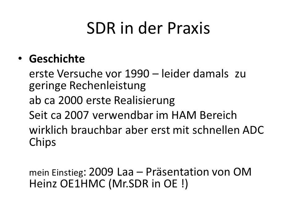 SDR in der Praxis Geschichte