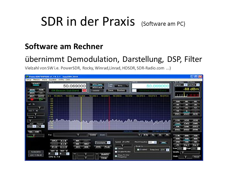 SDR in der Praxis (Software am PC)