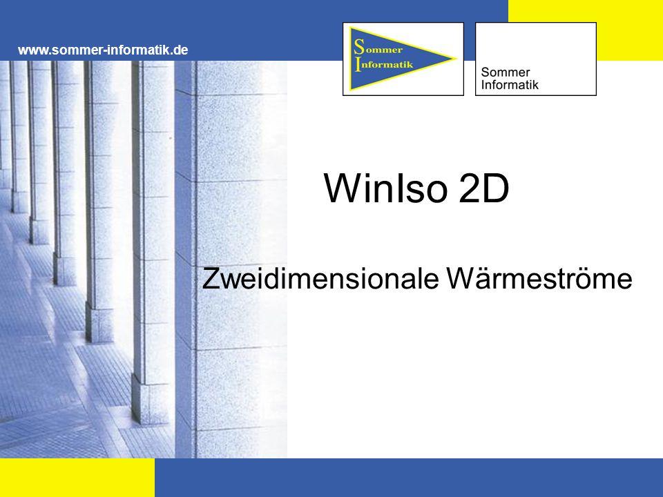 WinIso 2D Zweidimensionale Wärmeströme