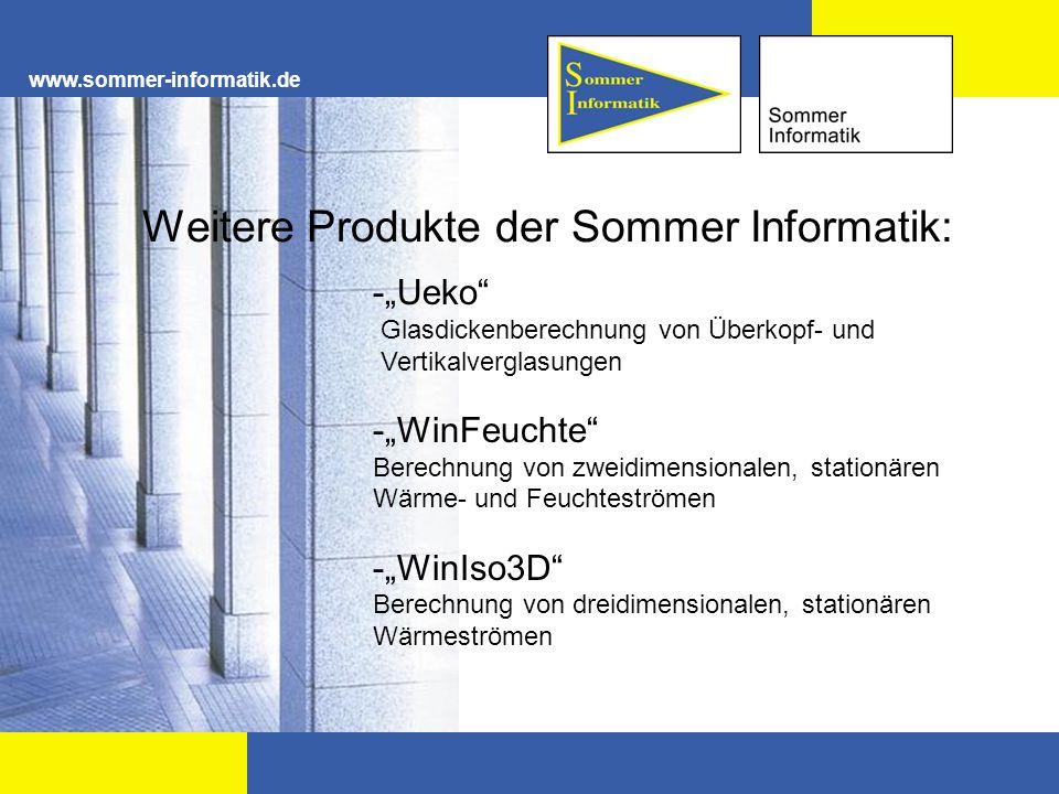 Weitere Produkte der Sommer Informatik: