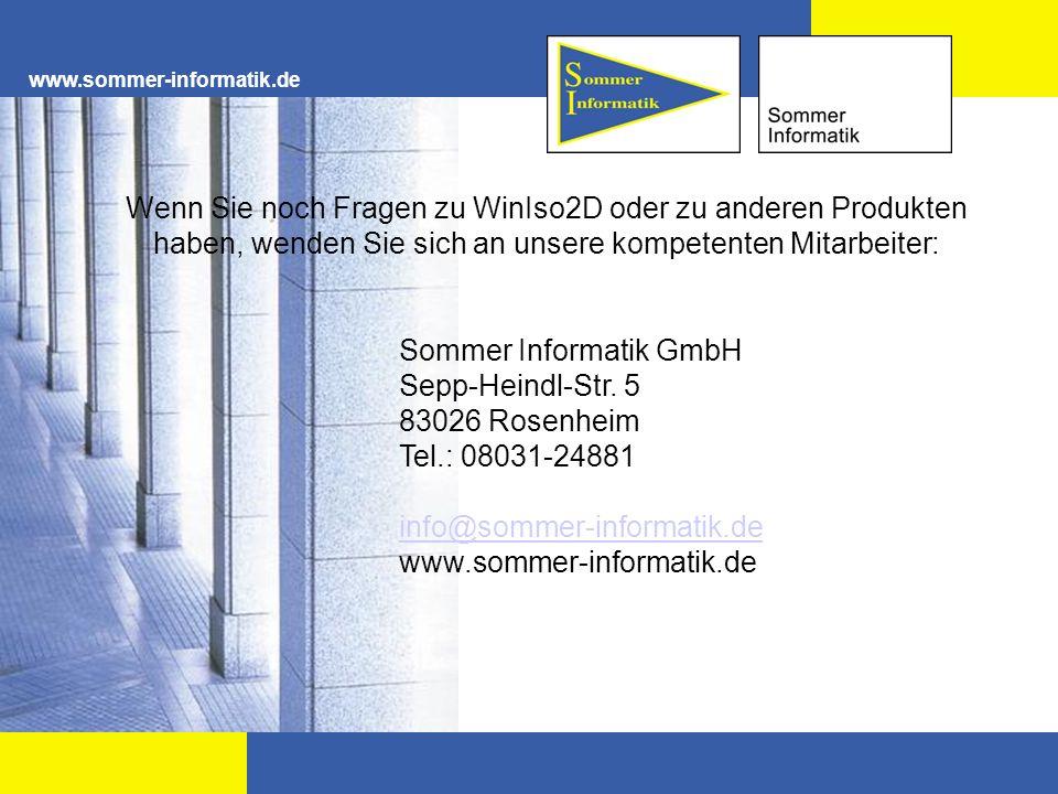 Sommer Informatik GmbH Sepp-Heindl-Str. 5 83026 Rosenheim