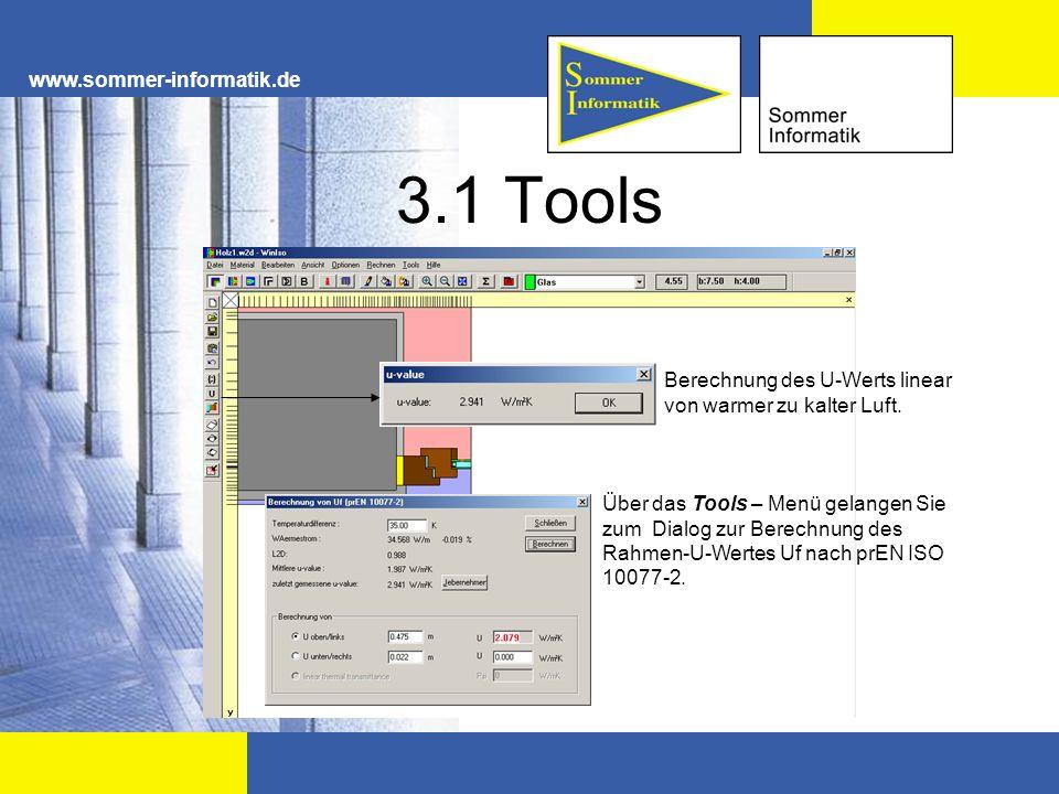 3.1 Tools www.sommer-informatik.de Berechnung des U-Werts linear