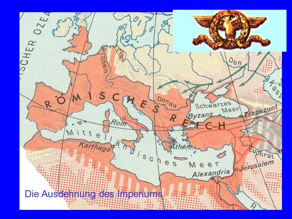 Imperium Karte Rom breitet sich aus. Die Ausdehnung des Imperiums
