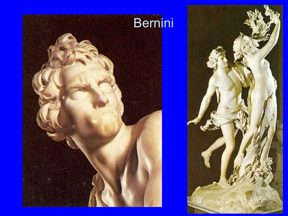 Bernini Bernini. Oben links Bernini, links unten: David.