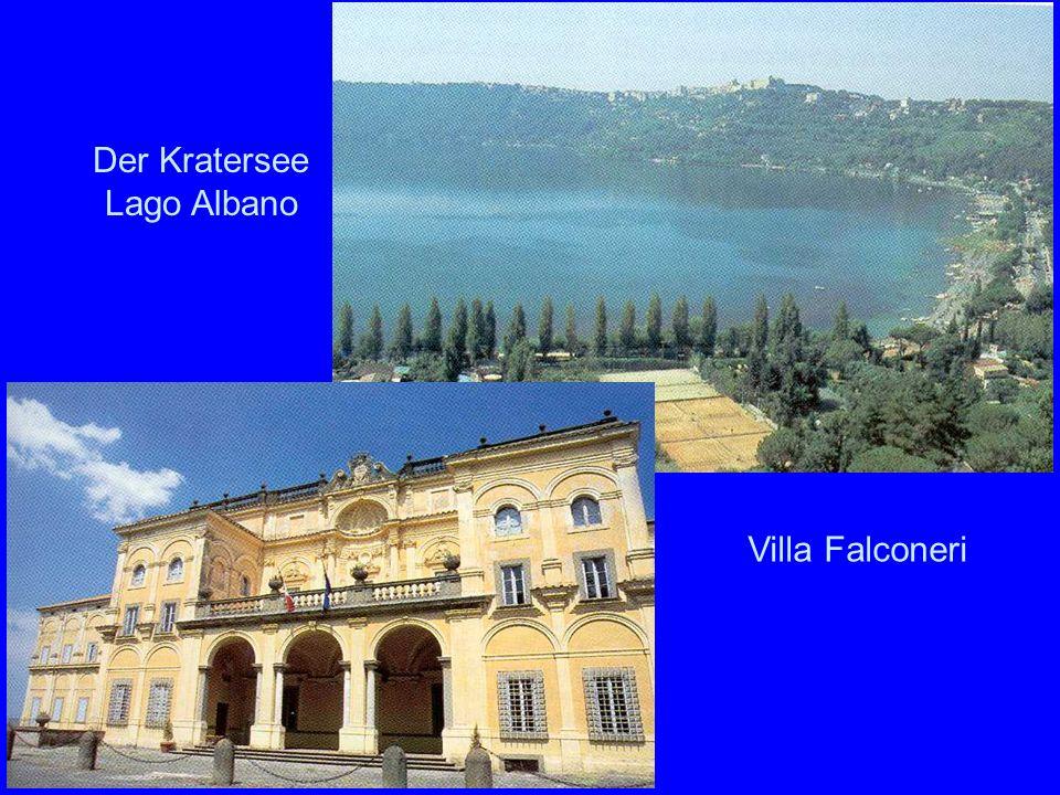 Albaner Berge Der Kratersee Lago Albano Villa Falconeri