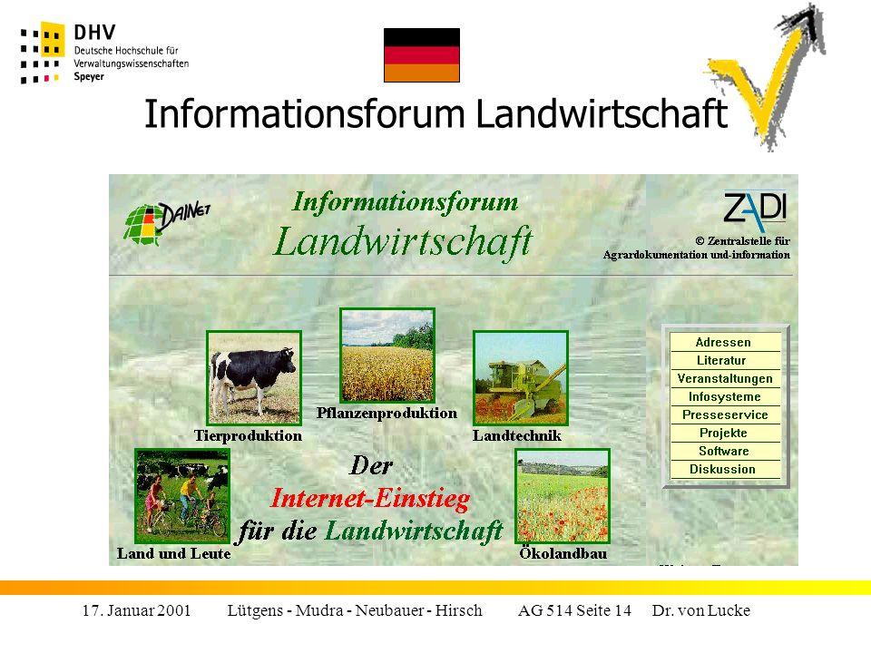 Informationsforum Landwirtschaft