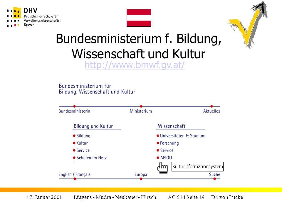 Bundesministerium f. Bildung, Wissenschaft und Kultur