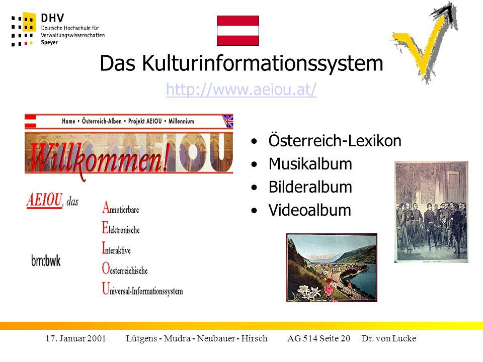 Das Kulturinformationssystem