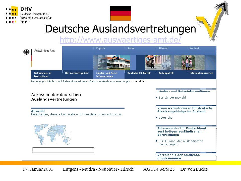 Deutsche Auslandsvertretungen http://www.auswaertiges-amt.de/