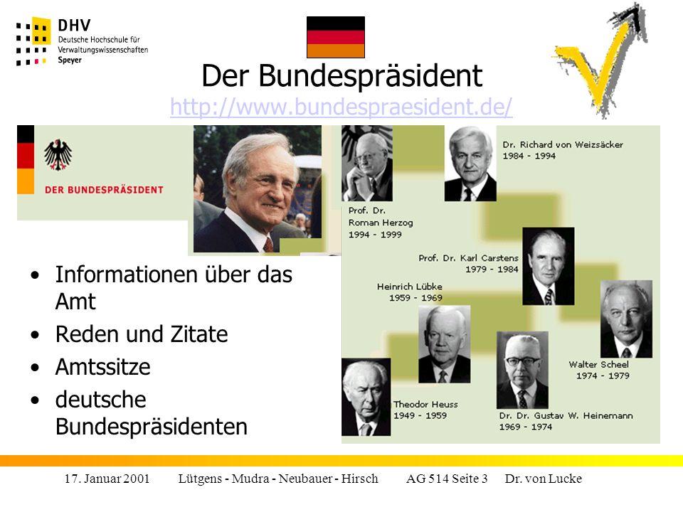 Der Bundespräsident http://www.bundespraesident.de/