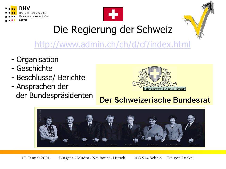 Die Regierung der Schweiz