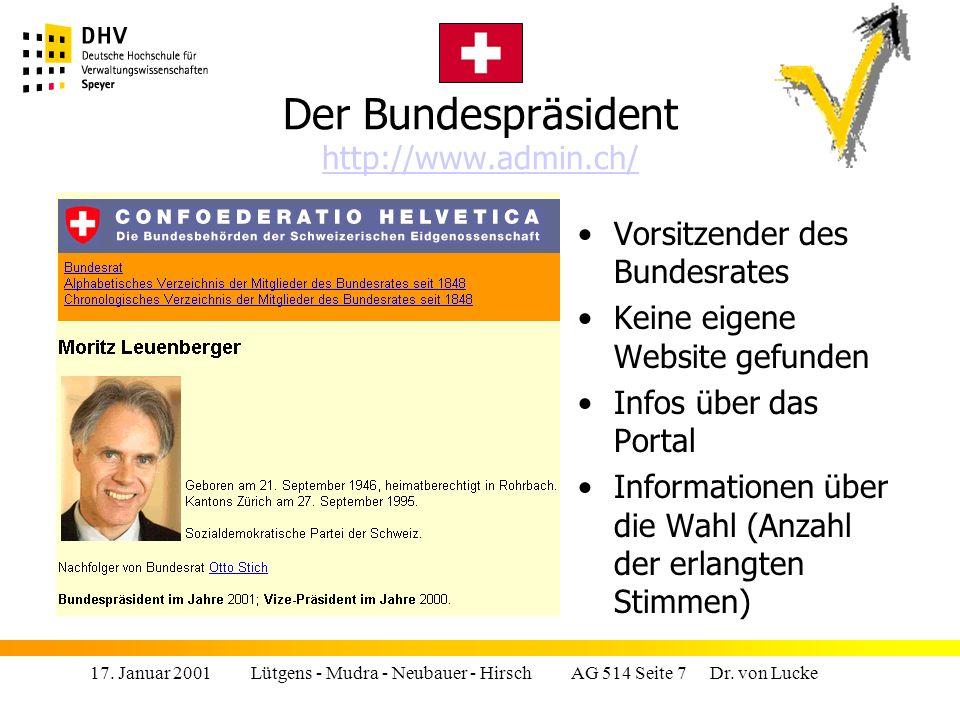 Der Bundespräsident http://www.admin.ch/