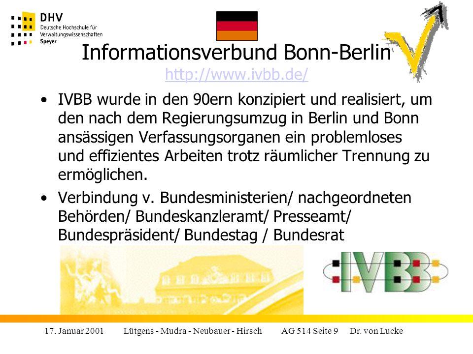 Informationsverbund Bonn-Berlin http://www.ivbb.de/