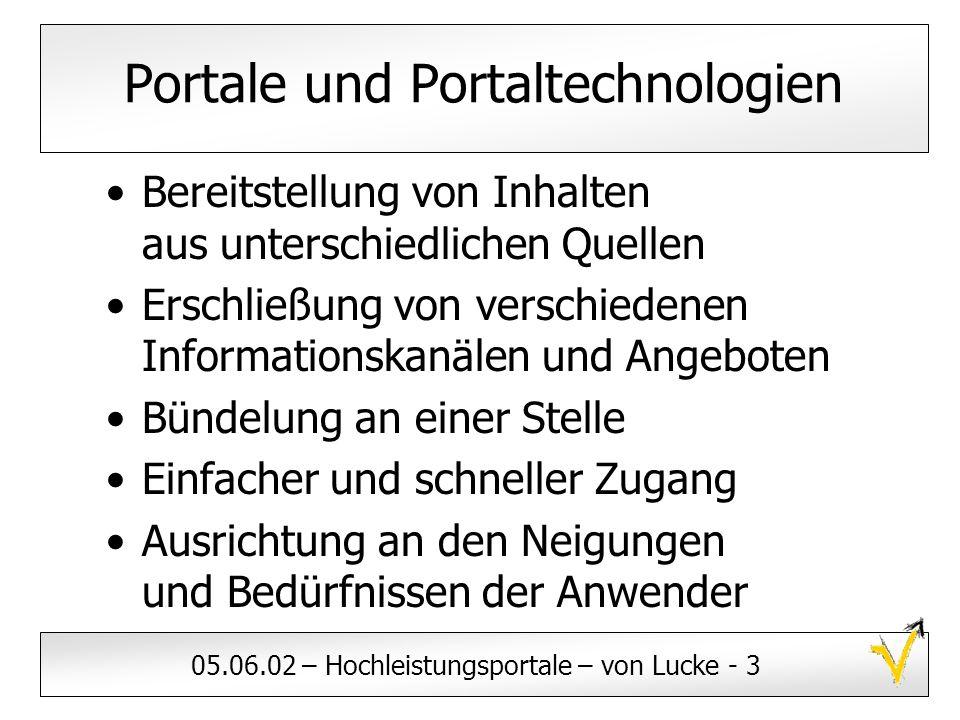 Portale und Portaltechnologien