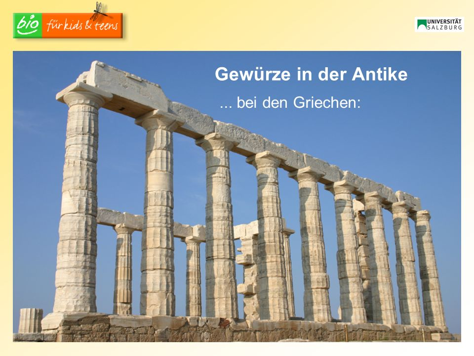 Gewürze in der Antike ... bei den Griechen: