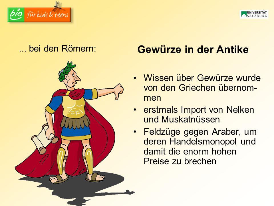 Gewürze in der Antike ... bei den Römern:
