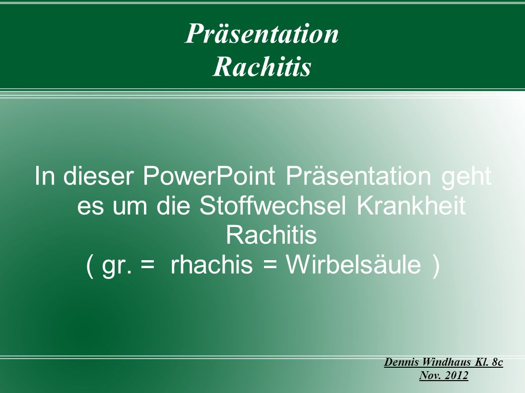Präsentation Rachitis