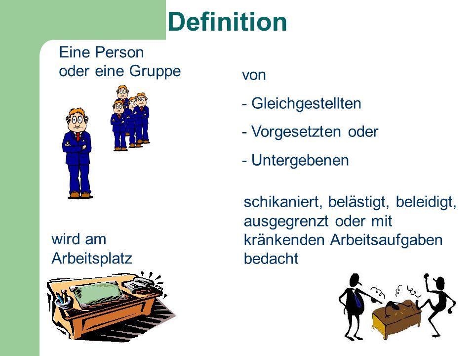 Definition Eine Person oder eine Gruppe von - Gleichgestellten