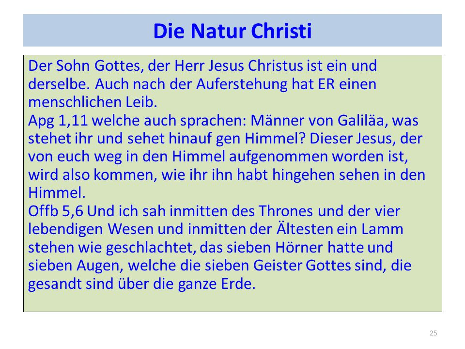 Die Natur Christi